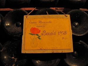 1958 Barolo, back when the winery was called Cantina Mascarello